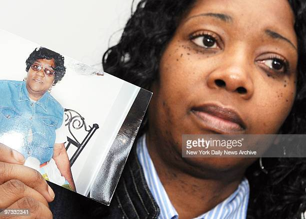 Patricia Henry holds photo of mom, Verda Henry, who died at Sutton Park Center for Nursing and Rehabilitation in New Rochelle partially because of a...