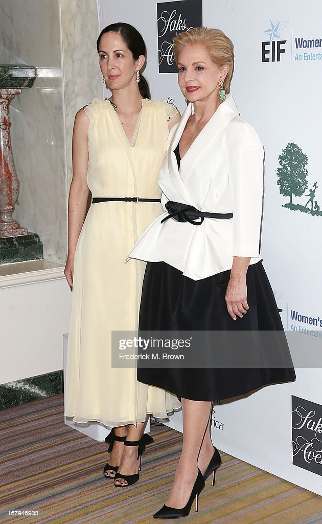 Patricia Herrera (L) and fashion designer Carolina Herrera attend the EIF Women's Cancer Research Fund's 16th Annual 'An Unforgettable Evening' presented by Saks Fifth Avenue at the Beverly Wilshire Four Seasons Hotel on May 2, 2013 in Beverly Hills, California.