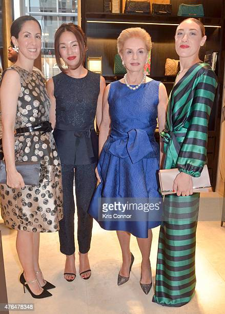 Patricia Herrera Lansing Designer Carolina Herrera Nicole Warne and Mia Moretti attend the CH Carolina Herrera Grand Opening at CityCenterDC on June...