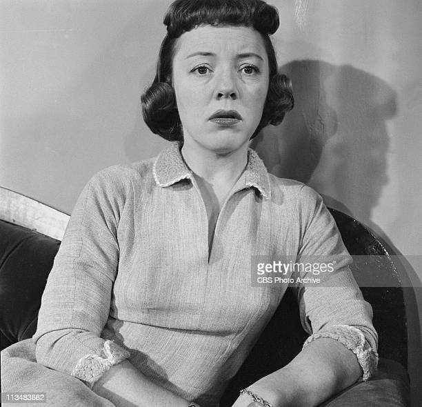 """Patricia Hitchcock in """"Rumors of Evening"""" on PLAYHOUSE 90. Image dated March 25, 1958."""