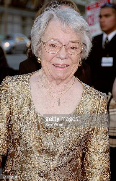 Patricia Hitchcock O'Connell arrives at AFI's 40th Anniversary celebration presented by Target held at Arclight Cinemas on October 3, 2007 in...