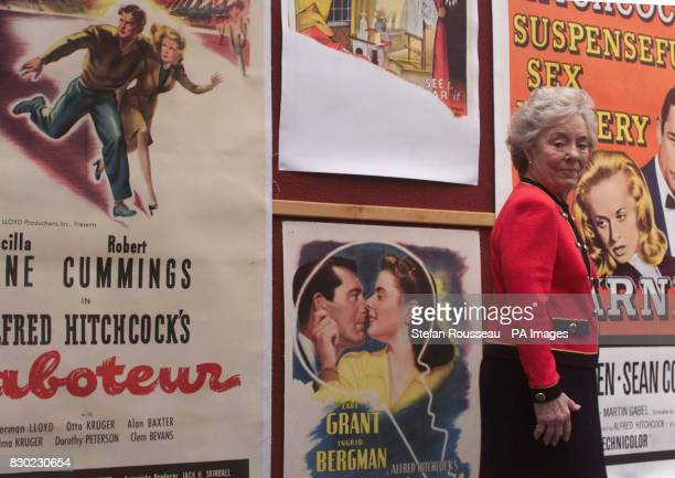 Patricia Hitchcock O'Connell daughter of the late film director Alfred Hitchcock, at Christies in London, where there will be a sale of film posters,...