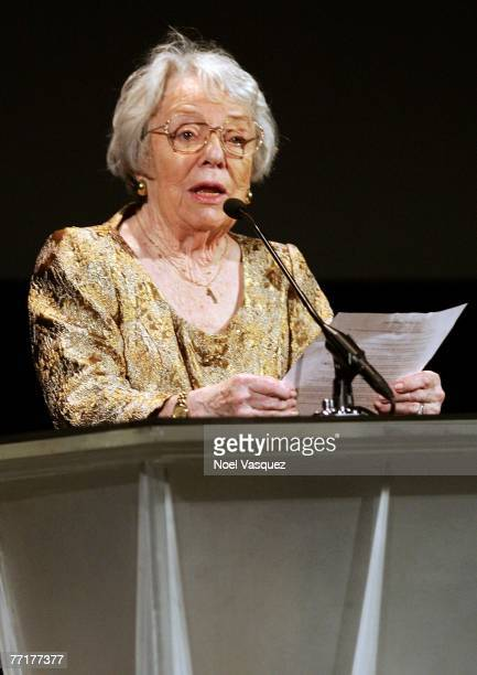 """Patricia Hitchcock O'Connell introduces Tippi Hedren to present the film """"The Birds"""" at AFI's 40th Anniversary celebration presented by Target held..."""