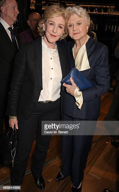 Patricia Hodge and Dame Angela Lansbury attend a post show drinks reception on stage following the press night performance of Gypsy at The Savoy...