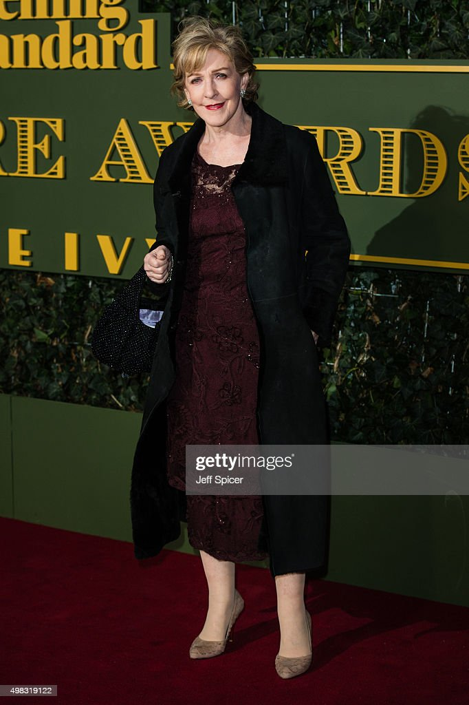Patricia Hodge attends the Evening Standard Theatre Awards at The Old Vic Theatre on November 22, 2015 in London, England.