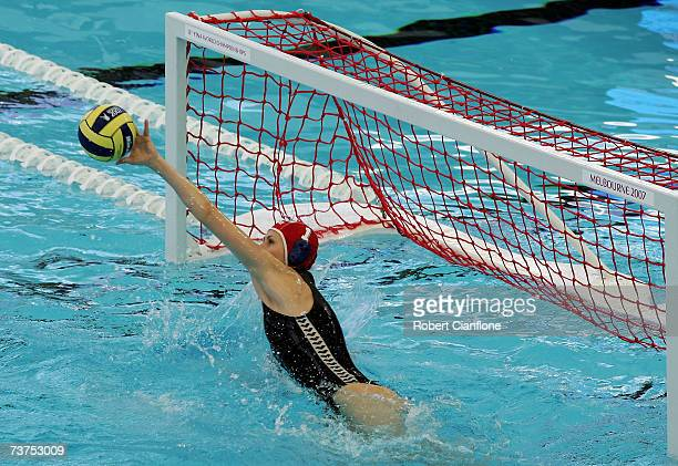 Patricia Horvath of Hungary in action during the Women's Bronze Medal Water Polo match between Russia and Hungary at the Melbourne Sports Aquatic...