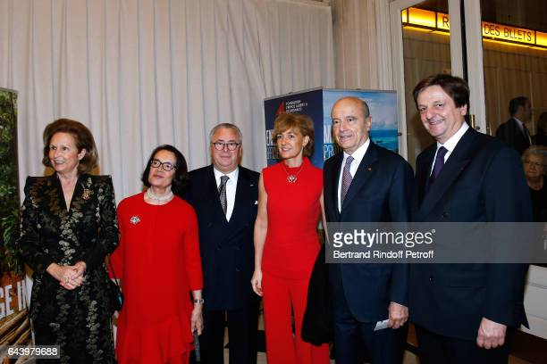 Patricia Husson Owners of the Salle Gaveau JeanMarie with his wife Chantal Alain Juppe with his wife Isabelle and JeanLuc Allavena attend the...