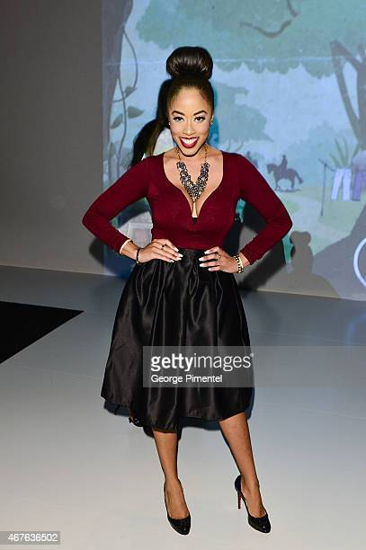 Patricia Jaggernauth attends World MasterCard Fashion Week Fall 2015 Collections Day 3 at David Pecaut Square on March 25 2015 in Toronto Canada