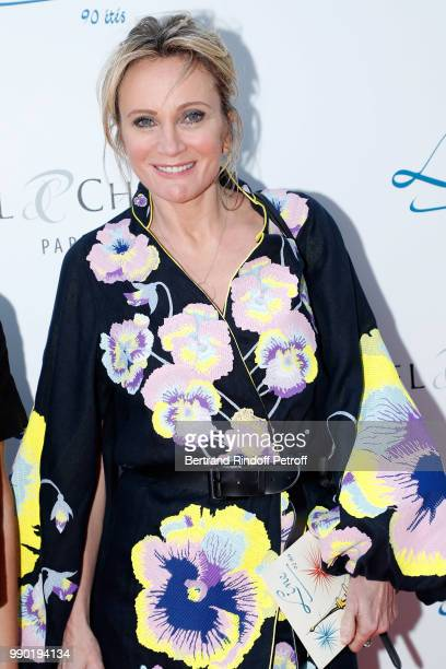 Patricia Kaas attend Line Renaud's 90th Anniversary on July 2 2018 in Paris France
