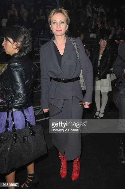 Patricia Kaas attends the Lanvin Pret a Porter show as part of the Paris Womenswear Fashion Week Spring/Summer 2010 on October 2 2009 in Paris France