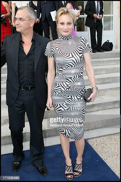 Patricia Kaas Cyril Prieur at Charity Dinner Sponsored By Longines Elegance Is An Attitude In Benefit Of Foundation Agassi At Museum Rodin In Paris
