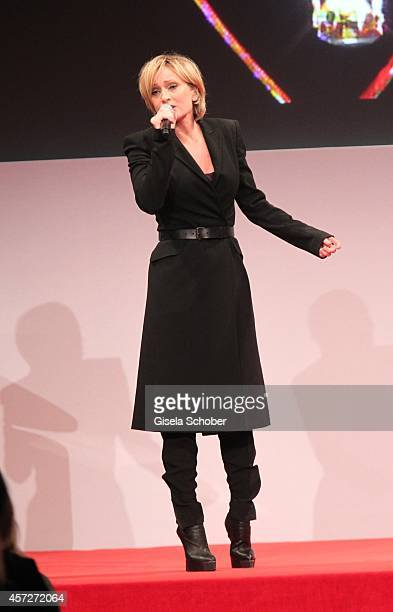 Patricia Kaas performs during the Prix Courage Award 2014 on October 15 2014 at AllerheiligenHofkirche in Munich Germany