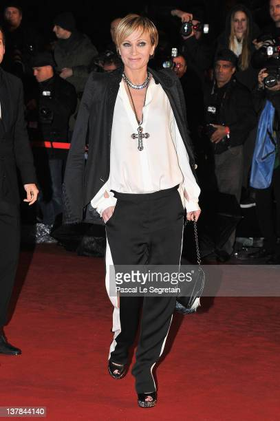 Patricia Kaas poses as she arrives at NRJ Music Awards 2012 at Palais des Festivals on January 28 2012 in Cannes France