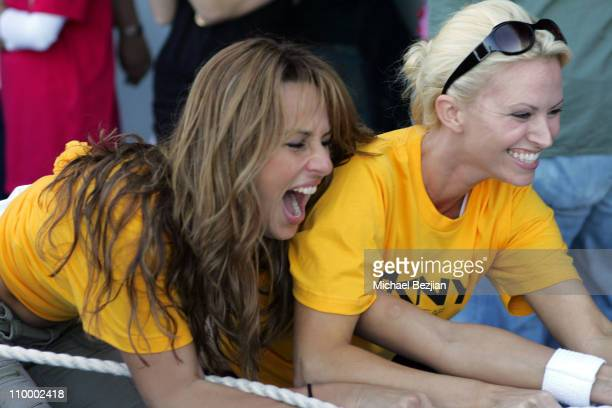 Patricia Kara and Aubrie Lemon during DKNY Men's Underwear Celebrity Field Day at Skysport Spa in Beverly Hills California United States