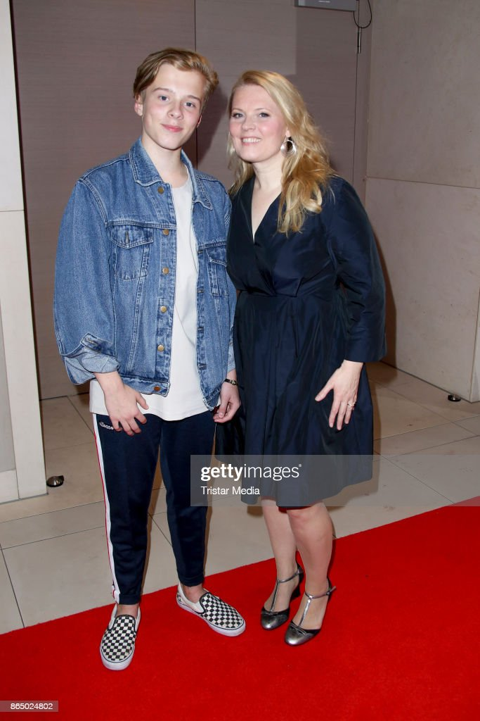 Patricia Kelly and her son Iggi during the 'Schlagerboom - Das Internationale Schlagerfest' at Westfalenhalle on October 21, 2017 in Dortmund, Germany.