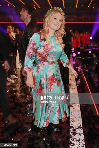 Patricia Kelly during the tv show 'Schlagerbooom 2018 Alles funkelt Alles glitzert' at Westfalen Stadium on October 20 2018 in Dortmund Germany