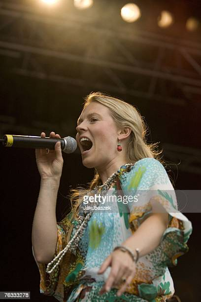 Patricia Kelly Members of the USAmerican/ Irish pop/ folkband The Kelly Family perform live open air at the Zitadelle Spandau August 26 2007 in...