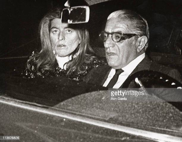 Patricia Kennedy Lawford and Aristotle Onassis during Aristotle Onassis and Pat Lawford Outside 21 Club at 21 Club in New York City New York United...