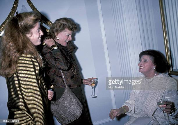 Patricia Kennedy Lawford with her daughter Robin Elizabeth Lawford and Patricia Neal