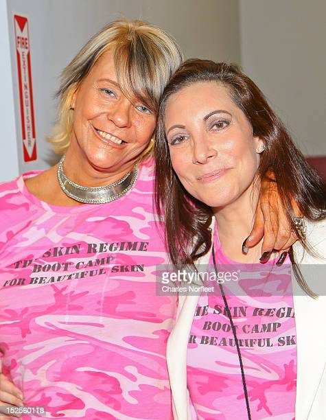 Patricia Krentcil and Dana Ramos author of The Skin Regime attend Tan Mom Patricia Krentcil Skin Cancer Foundation Event at Westchester MMAFit on...