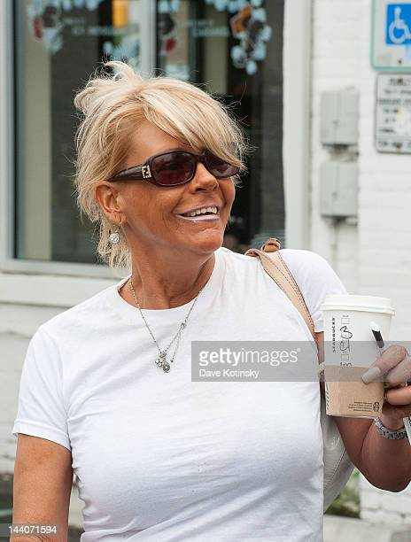 Patricia Krentcil leaving Starbuck's on May 9 2012 in Nutley New Jersey