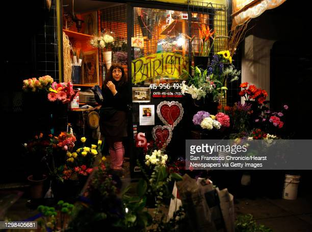 Patricia Lanao waits for customers at her flower shop on Columbus Avenue in the North Beach neighborhood of San Francisco, Calif., on Monday,...
