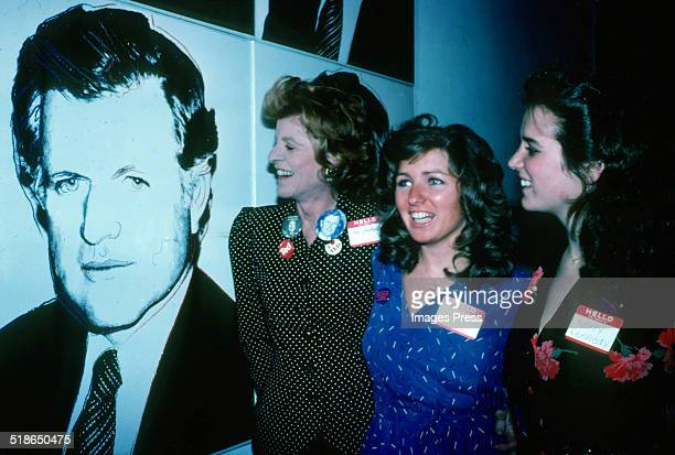 Patricia Lawford Courtney Kennedy and Kerry Kennedy attends a 1980 presidental campaign event for Ted Kennedy on March 2 1980 in New York City