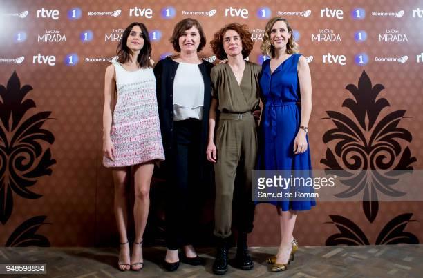 Patricia Lopez Arnaiz Cecilia Freire Ana Wagener and Macarena Garcia attends 'La Otra Mirada' RTVE Presentation on April 19 2018 in Madrid Spain