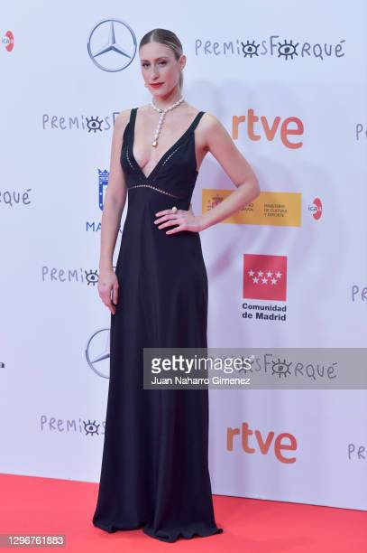 Patricia Lopez attends the gala of 'Jose Maria Forque' Awards 2021 at Ifema on January 16, 2021 in Madrid, Spain.