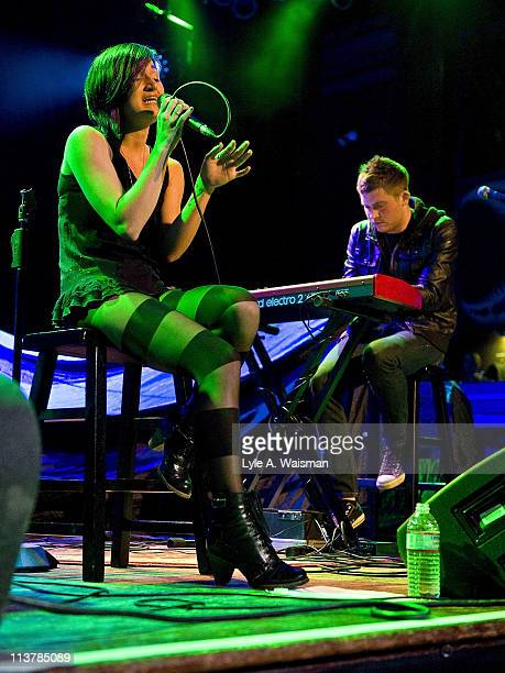 Patricia Lynn and Justin McHugh of The Soldier Thread perform an acoustic set at the House of Blues Chicago on May 4, 2011 in Chicago, Illinois.