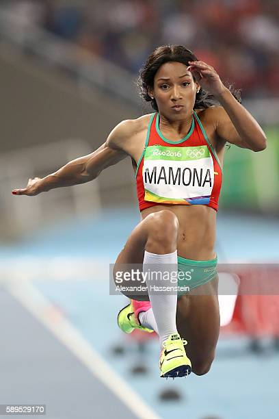 Patricia Mamona of Portugal competes in the Women's Triple Jump final on Day 9 of the Rio 2016 Olympic Games at the Olympic Stadium on August 14 2016...