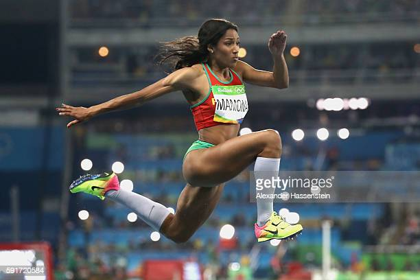 Patricia Mamona of Portugal competes in the Women's Triple Jump final on Day 9 of the Rio 2016 Olympic Games at the Olympic Stadium on August 14,...