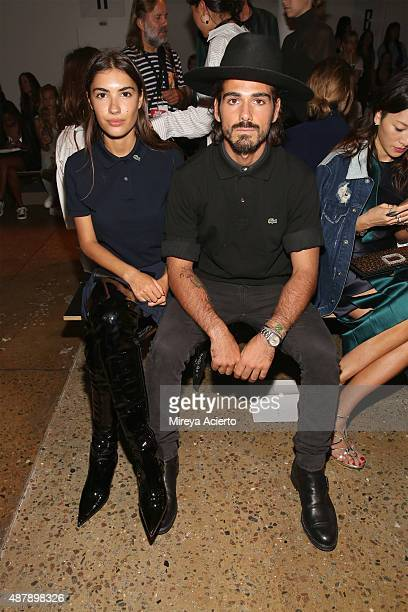 Patricia Manfield and Giotto Calendoli attend the Dion Lee fashion show during Spring 2016 MADE Fashion Week at Milk Studios on September 12 2015 in...