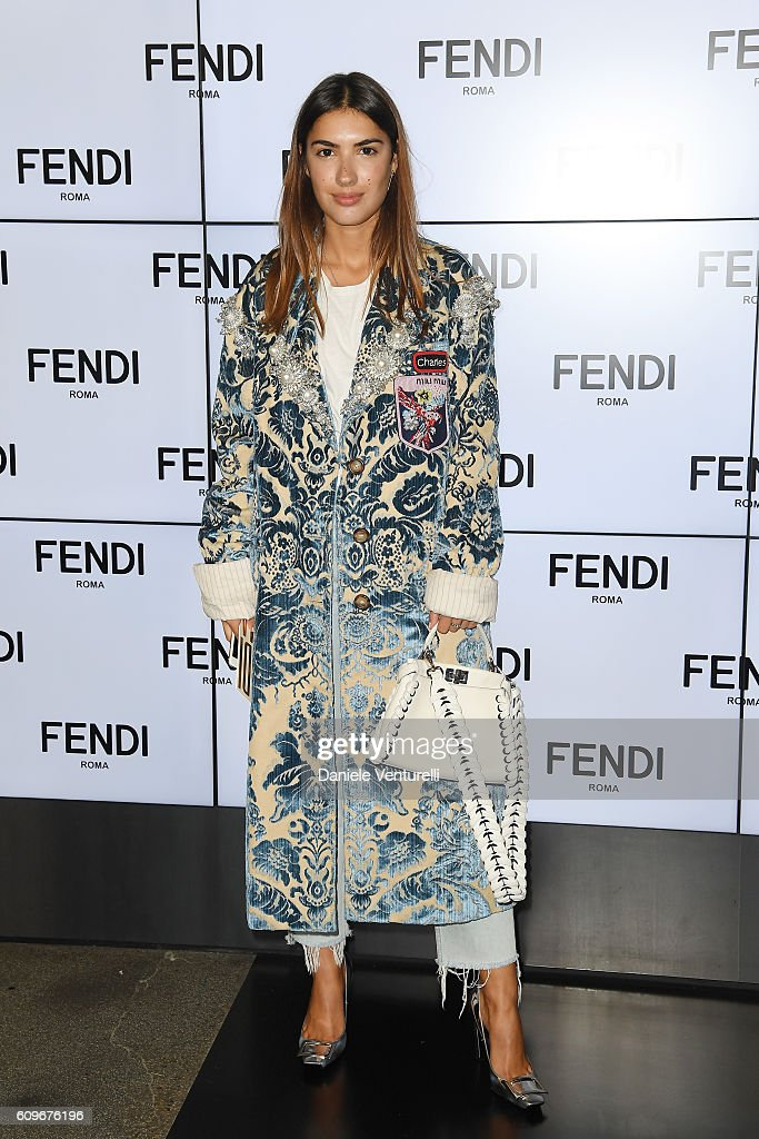 Patricia Manfield attends the Fendi show during Milan Fashion Week Spring/Summer 2017 on September 22, 2016 in Milan, Italy.