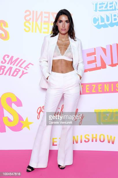 Patricia Manfield attends the Tezenis show on July 24 2018 in Verona Italy