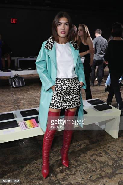 Patricia Mansfield attends the Zadig Voltaire September 2017 fashion show during New York Fashion Week at Cedar Lake on September 11 2017 in New York...