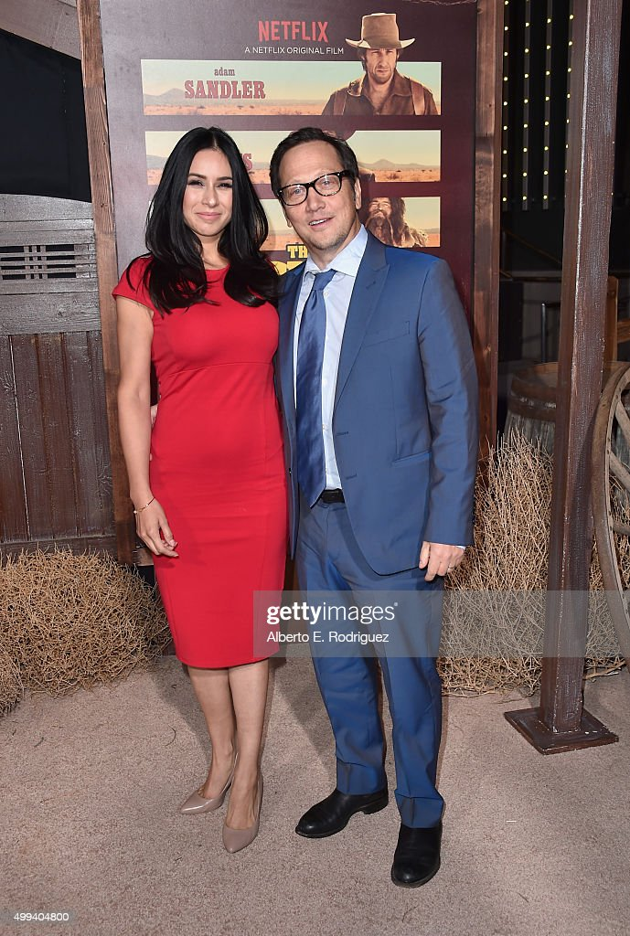 Patricia Maya Schneider and actor Rob Schneider attends the premiere of Netflix's 'The Ridiculous 6' at AMC Universal City Walk on November 30, 2015 in Universal City, California.