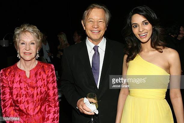 Patricia McCallum actor Michael York and actress Mallika Sherawat attend the Charity Auction Gala to benefit UNICEF hosted by Montblanc at the...