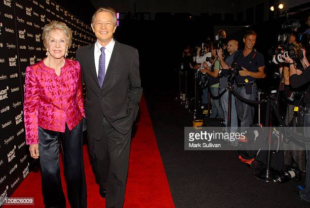 Patricia McCallum and actor Michael York attend the Charity Auction Gala to benefit UNICEF hosted by Montblanc at the Beverly Wilshire Four Seasons...