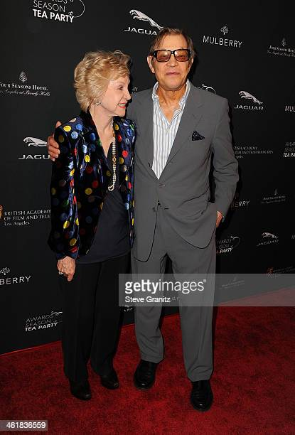 Patricia McCallum and husband actor Michael York arrive at the BAFTA Los Angeles Awards Season Tea Party at the Four Seasons Hotel Los Angeles at...