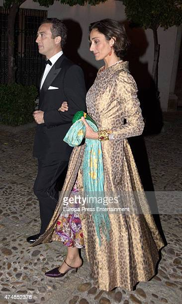 Patricia Medina Abascal and Jeronimo Solis are seen at Casa Palacio Salinas on April 18 2015 in Seville Spai