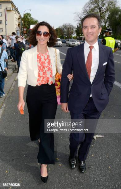 Patricia Medina Abascal and Jeronimo Solis attend the bullfighting at Maestranza bullring on April 16 2017 in Seville Spain