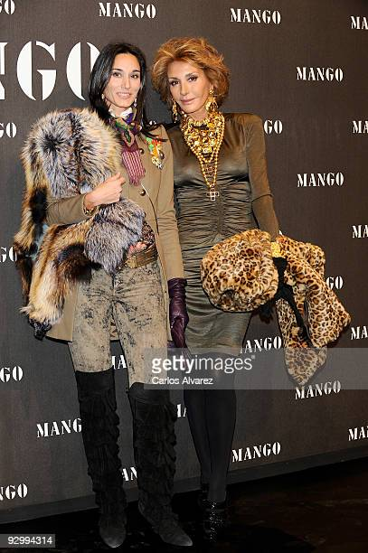 Patricia Medina Abascal and Nati Abascal attend Mango New Collection launch party at La Caja Magica on November 11 2009 in Madrid Spain