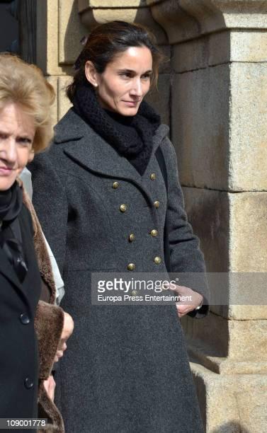 Patricia Medina attends funeral for Marquis of Cogolludo and House of Medinaceli's heir Luis Medina Fernandez De Cordoba at San Juan Bautista de...