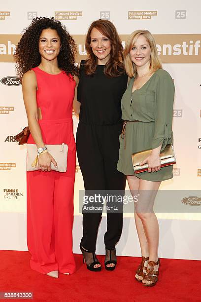 Patricia Meeden Carolin Kebekus and Jasmin Schwiers attend the Film und Medienstiftung NRW summer party on June 8 2016 in Cologne Germany