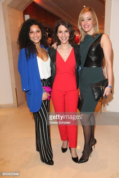 """Patricia Meeden, Eva-Maria Reichert and Judith Richter during the Movie Meets Media """"MMM"""" event on the occasion of the 68th Berlinale International..."""