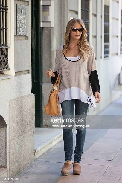 Patricia Montero sighting in the center of Madrid on September 4 2012 in Madrid Spain