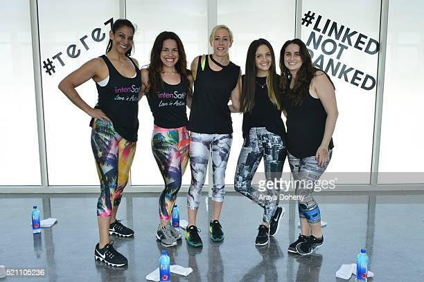 Patricia Moreno Natalia Petrzela Lacey Stone Zara Terez Tisch and Amanda Schabes attend Terez x SatiLife present Link Together Lead Together Los...
