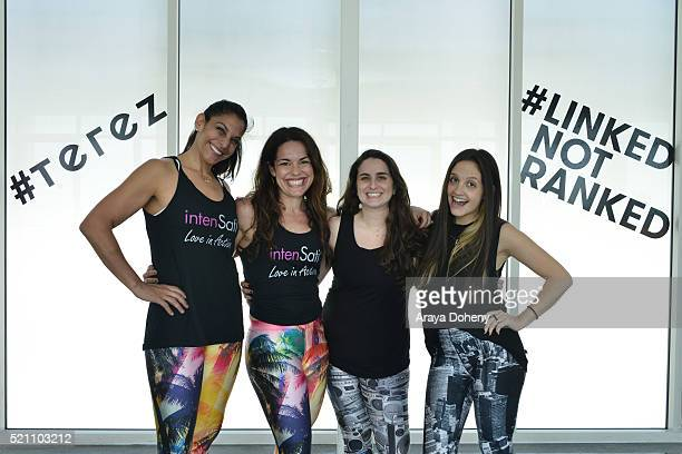 Patricia Moreno Natalia Petrzela Zara Terez Tisch and Amanda Schabes attend Terez x SatiLife present Link Together Lead Together Los Angeles at...