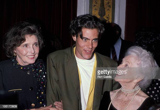 Patricia Neal Dana Ashbrook Helen Hayes during 90th Birthday Party For Helen Hayes at Plaza Hotel in New York City New York United States